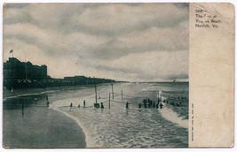 1901-1907 Norfolk VA The Surf at Virginia Beach Bathers RARE Undivided P... - $8.37