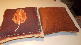 Pair of Leaf Print Decorative Pillows  18 x 18 - $49.95