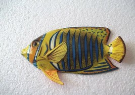 "Tropical Fish Wall Plaque Tiki Bar Beach Pool Nautical Decor Size 6"" TFW07 - $8.49"