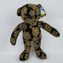 "Sugar Loaf Spiderweb Bear 16"" Plush Teddy Webs Halloween Spooky Stuffed Animal - $21.77"