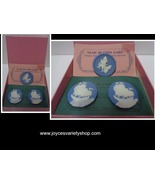 Olde Button Heirloom Earrings & Pin Set NWT Cameo Blue & White - $19.99