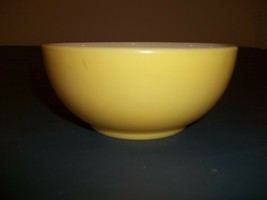 "Vintage Fire King Yellow And White Chili Bowl 5"" Diameter Across The Top - $17.81"