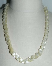 """VTG Mother of Pearl Lucite Button Choker Necklace - 23"""" - 67 Buttons Total - $39.60"""