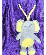 Carter's Child Of Mine Gray & Yellow Musical Lovey Elephant Pull Toy Plush - $19.74