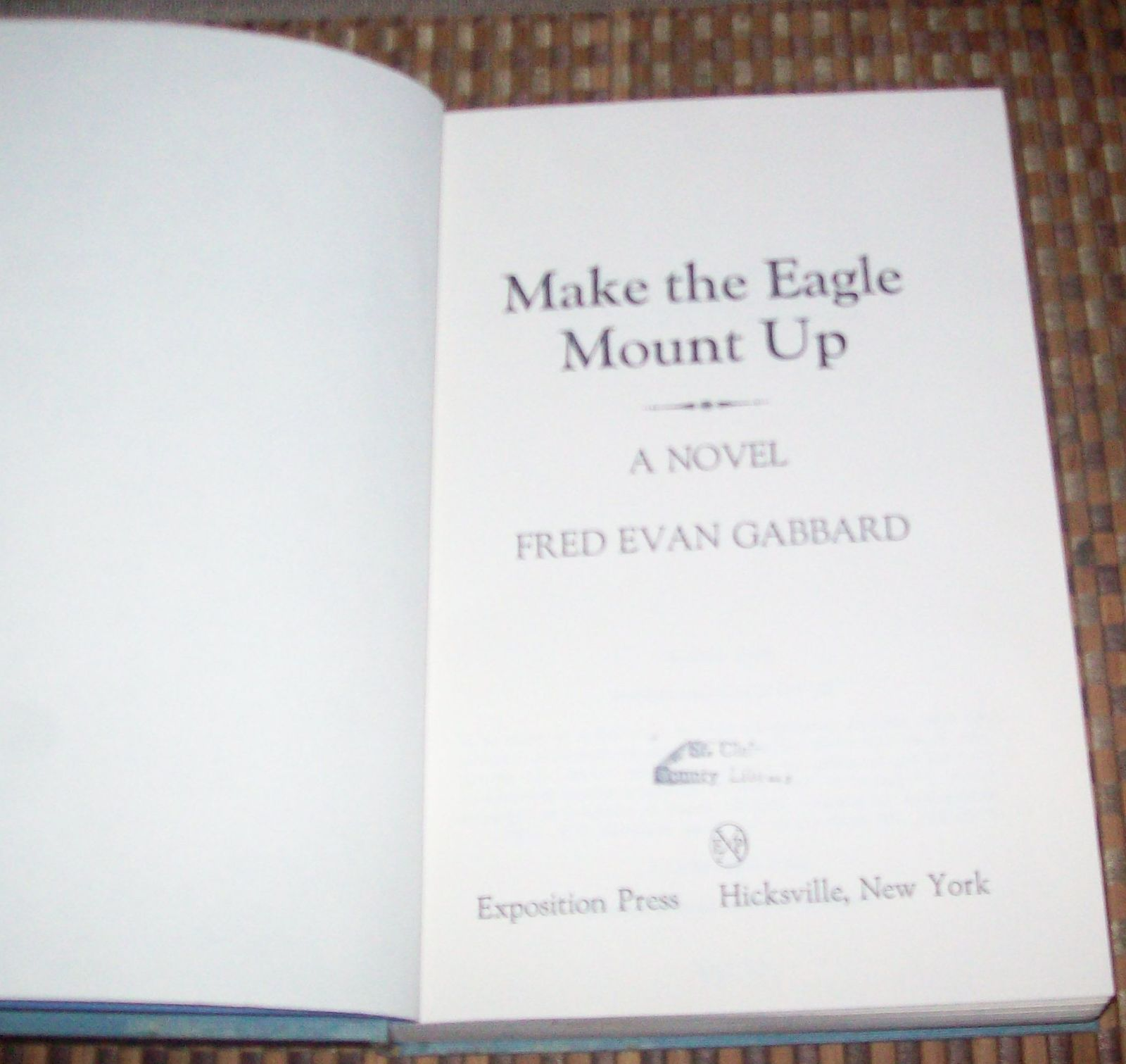 Make the Eagle Mount Up by Fred Evan Gabbard 1979 HBDJ Rome