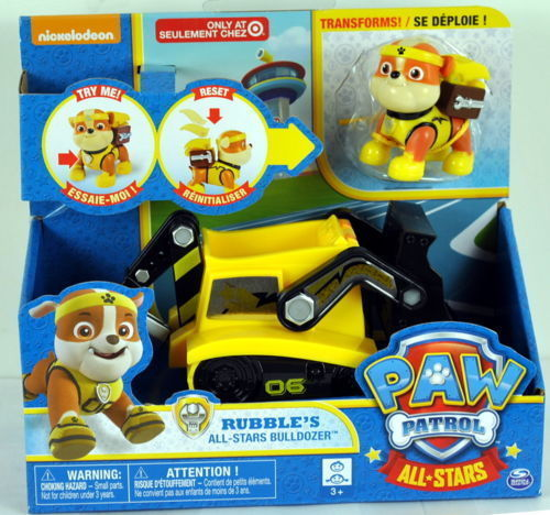 Paw Patrol Vehicle Rubble's All-Stars BULLDOZER - Rubble Transforms!