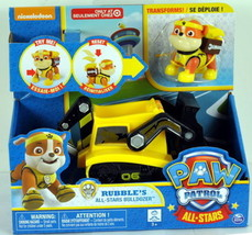 Paw Patrol Vehicle Rubble's All-Stars BULLDOZER - Rubble Transforms! - $28.04