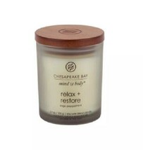 """Chesapeake Bay Mind & Body """"Relax + Restore"""" 3.7 oz Soy Wax Blend Candle - $9.49"""