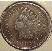 1904 Indian Head Penny VG8 Partial Liberty #0830 - $2.49