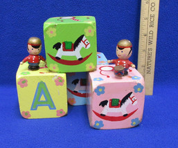 Alphabet Blocks Music Box Enesco Painted Toy Soldiers Knick Knack Paddy ... - £8.40 GBP