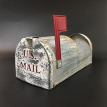 Metal Farmhouse US Mailbox Silver Planter Square Flower Pot Tray Holder ... - $25.00