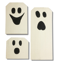 Handcrafted Ghosts, Country style wall decor - $25.00