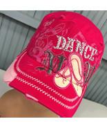 Dance Mom Bedazzled Retro Distressed Pink Strapback Baseball Cap Hat - $17.43