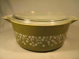 """Vintage Pyrex 8.5"""" 2.5 Qt Green Casserole Dish W Lid *Excellent* [A2] - $22.33"""