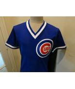 Vtg Blue Sewn Majestic Chicago Cubs MLB Baseball Jersey Adult M Usa NICE... - $51.47