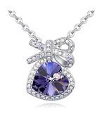 Austrian Purple Crystal For Women Ocean Heart Necklaces&Pendants Butterf... - $60.00