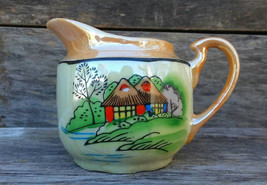 Hand painted Lusterware Creamer, Made in Japan, 1940s - $15.00