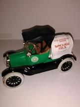 ERTL 1918 Ford Barrel Bank Model T Runabout Sinclair Oils- 75th Anniv.-Cast Iron - $20.43