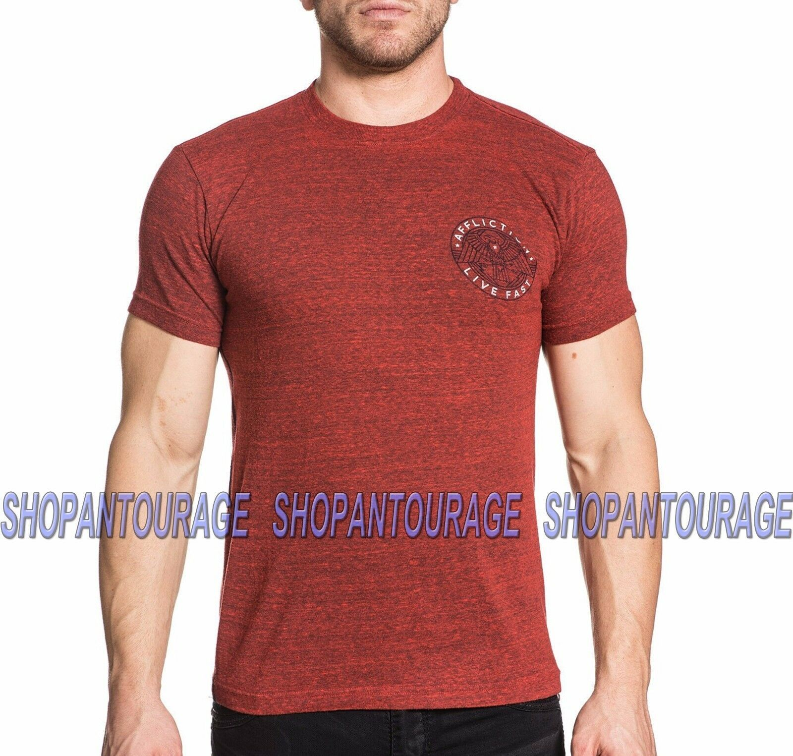Affliction Wings of Flames Short Sleeve Graphic V-Neck T-Shirt for Men