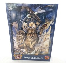 Master Pieces Power of a Dream Wolf Jigsaw Puzzle 1000 Pieces NEW Made i... - $14.74