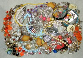 Jewelry Lot LBS Vintage - Now Junk Drawer Harvest Craft Unsearched Untested A5 - $20.00