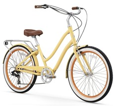Womens Cruiser Bike 26 Inch City Vintage Retro Road Yellow Bicycle Class... - $499.99