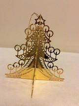 "1988 ""O Tannenbaum"" Danbury Mint Gold Christmas Ornament  - $14.95"