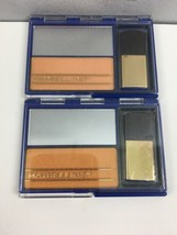 Vintage Maybelline Sleek Cheeks Blush x2 Pink Mist Compact Makeup New Un... - $31.68