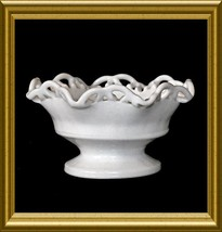 Smith Glass Milk Glass Bowl in the Colonial Lace pattern - $8.00