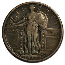 1917 Type 1 STANDING LIBERTY QUARTER 25¢ Coin Lot# MZ 3854
