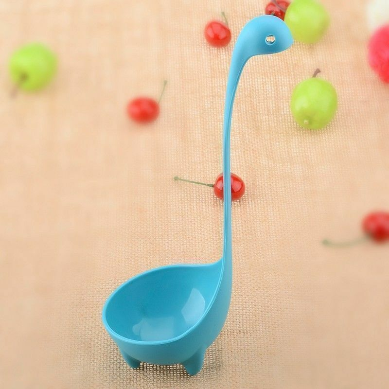 1pc Kitchen Supplies Dinosaur Spoons Soup Loch Ness Ladle Long Handle Spoon