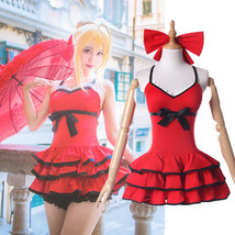 FGO Fate/Grand Order Saber Nero Swimsuit One Piece  Swimwear Cosplay Cos... - $33.99