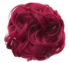 Messy Fake Hair Bun, Curly Fake Hair, Updo Hair, Easy to Wear [F] - £9.12 GBP