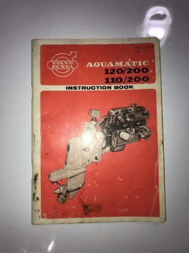 1967 Volvo Penta Aquamatic Instruction Book Lot of 7 Manuals Chrysler Marine ect
