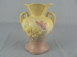 Vtg. Hull Flower Vase Matte Finish USA Raised Design stamped Yellow Pink... - $25.62