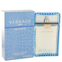 Versace Man by Versace Eau Fraiche Eau De Toilette Spray (Blue) 6.7 oz f... - $72.44