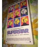 VTG RARE SUPERSTAR The Life And Times of Andy Warhol VHS Tape Documentary - $13.63