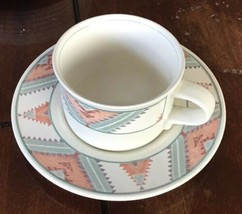 4-Mikasa Intaglio Cac24 Santa Fe Cup & Saucer Plate Sets - $24.75