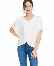 Women's Sleeve Knotted  T-shirt Solid V Neck Loose Causal Tops Blouse 95... - $12.73
