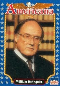 William H. Rehnquist trading card (Chief Justice of the Supreme Court) 1992 Star