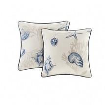 Beach Throw Pillows Set 2 Home Decor Square Cushions Nautical Coastal Oc... - $79.99