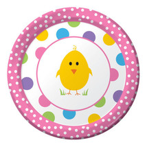 "Easter Chick Celebration 8 Dessert 7"" Plates Spring Party - $3.99"