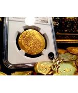 "MEXICO 1714 8 ESCUDOS NGC 64 ""FINEST KNOWN"" 1715 FLEET GOLD COB TREASURE... - $27,500.00"