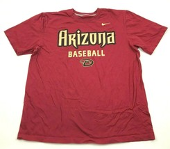 Nike Arizona Diamondbacks Baseball Shirt Mens Size Extras Large Red Shor... - $17.83
