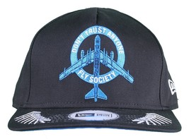 DTA Rogue Status X Fly Society Black Blue New Era Snapback Baseball Hat Cap NWT