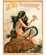1925 La Vie Parisienne Mermaid French Nouveau France Travel Advertisemen... - $21.00