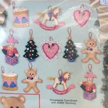 Bucilla Victorian Holiday Felt Appliqué Christmas Ornaments Kit 82935 Set Of 12 - $34.68