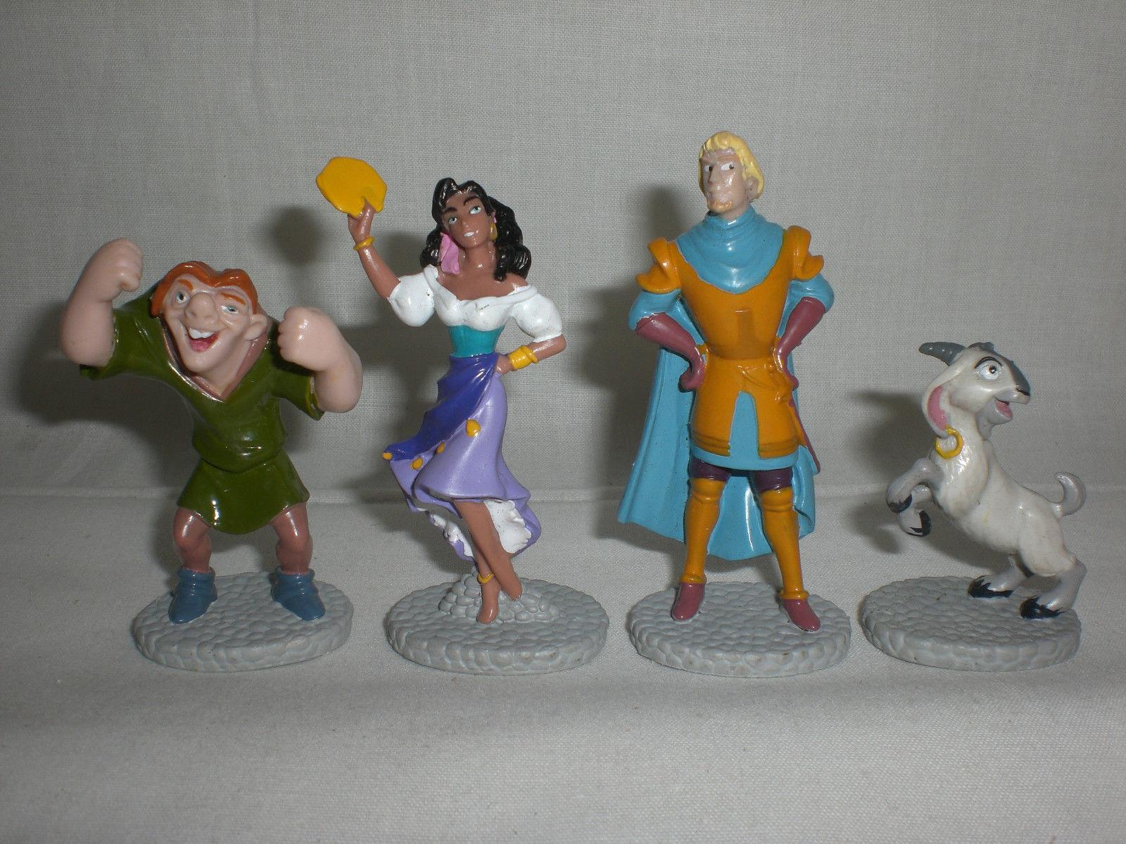 Disney Hunchback of Notre Dame Figures Quasimodo Esmeralda Phoebus Djali 16 Lot image 2