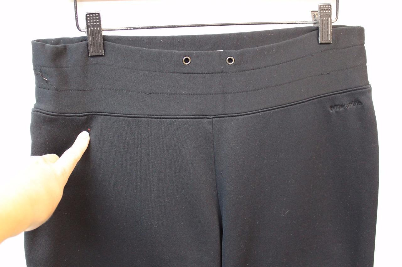 A4439 Womens COLUMBIA SPORTSWEAR Titanium black bootcut zip-pocket YOGA PANTS, L