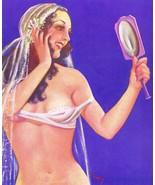 French Pinups: Pep Stories - Brunette Girl in Bra w/Mirror - Bergey - 1934 - $12.82+